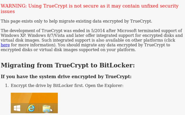 Sito web di TrueCrypt su SourceForge